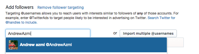 إعلانات تويتر استهداف متابعي حساب ما